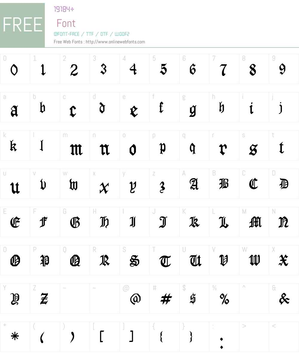 LaserLondon Font Screenshots