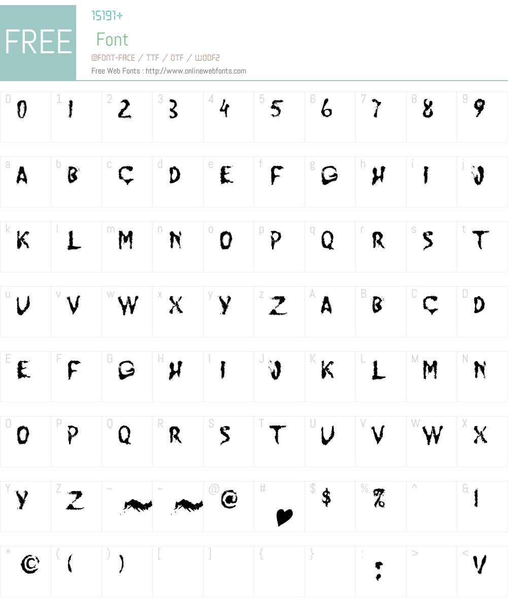 JUMP BURN IP Font Screenshots
