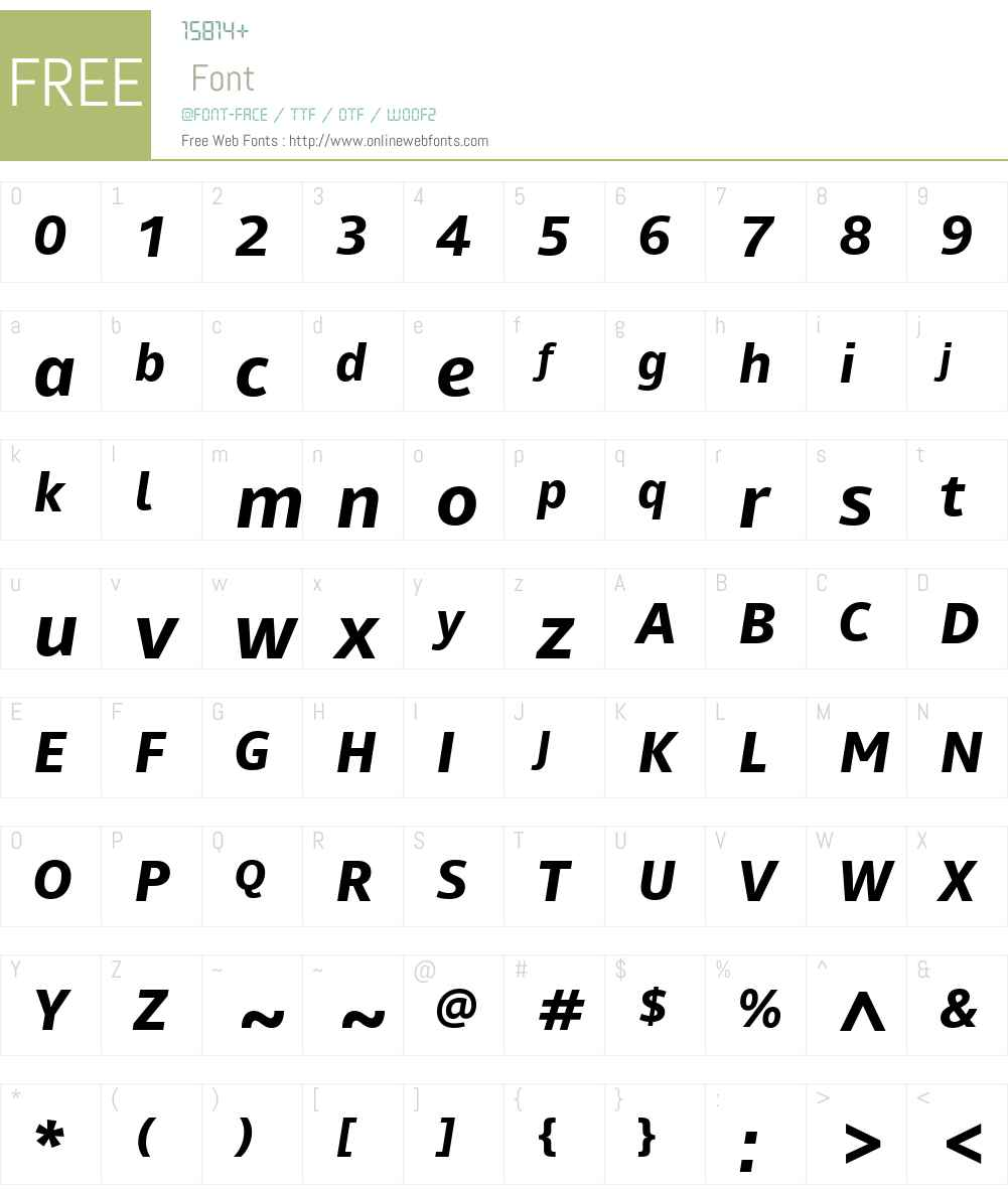 Mayberry Font Screenshots