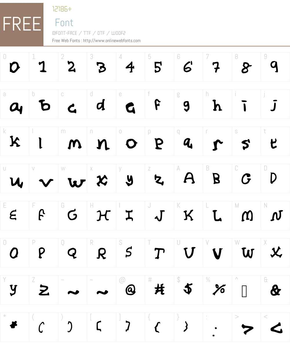 Almond_Milk Font Screenshots