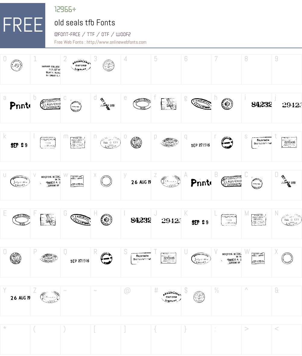 old seals tfb Font Screenshots