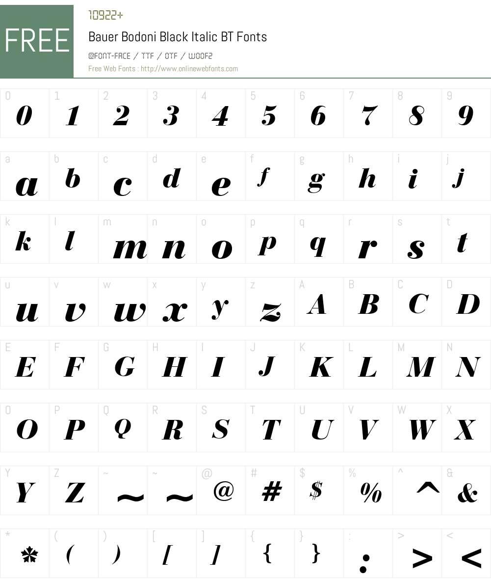 BauerBodni Blk BT Font Screenshots