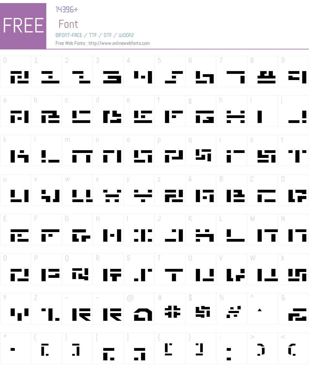 Missile Man Expanded Font Screenshots