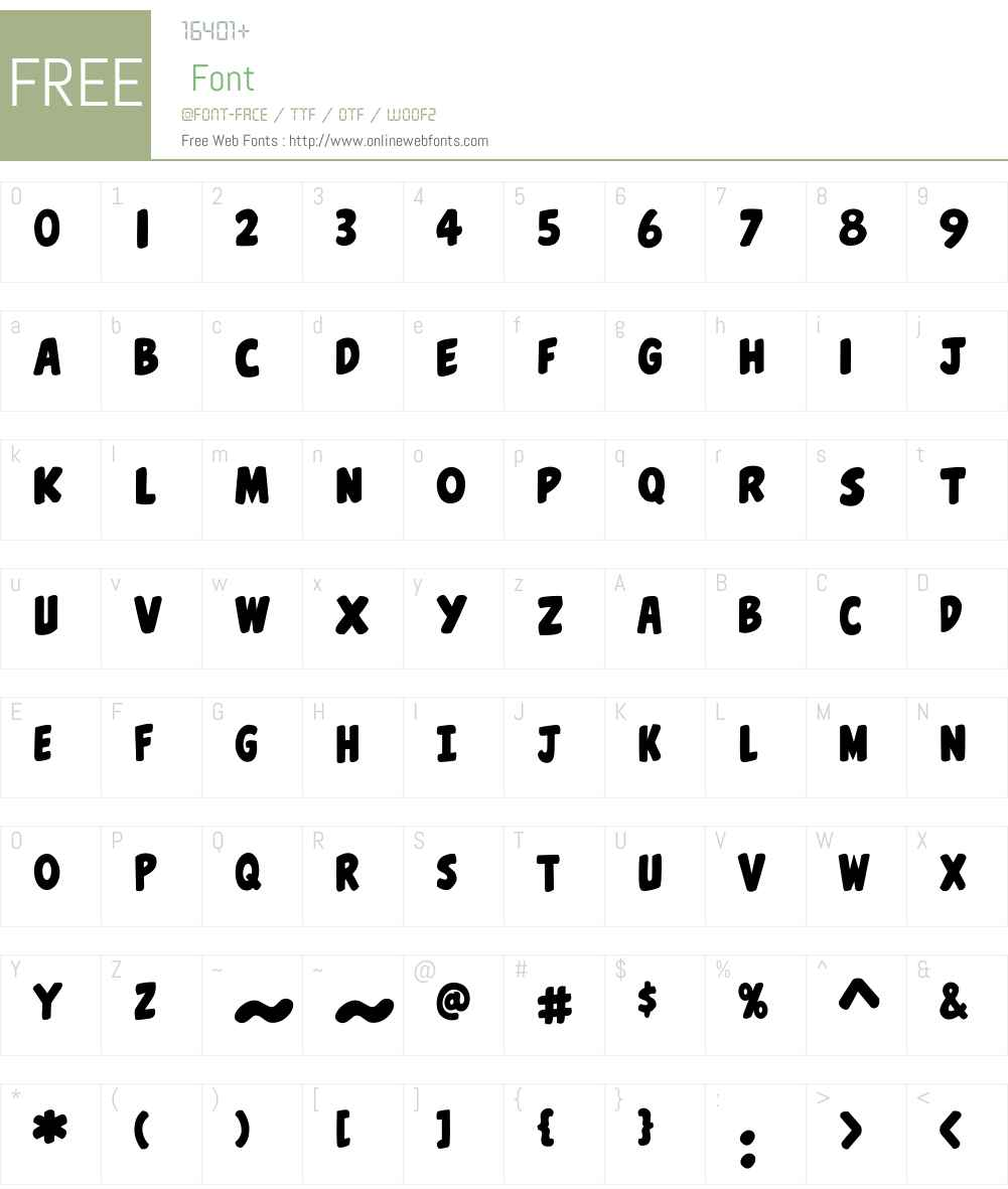 CCBellyLaughW00-Regular Font Screenshots