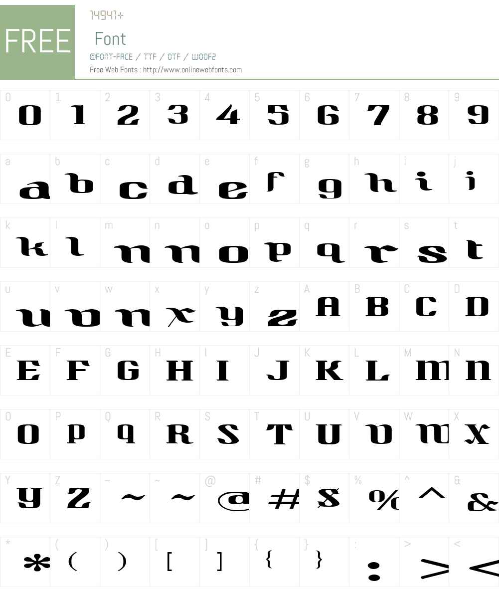 QuidicVeryWideW00-Regular Font Screenshots