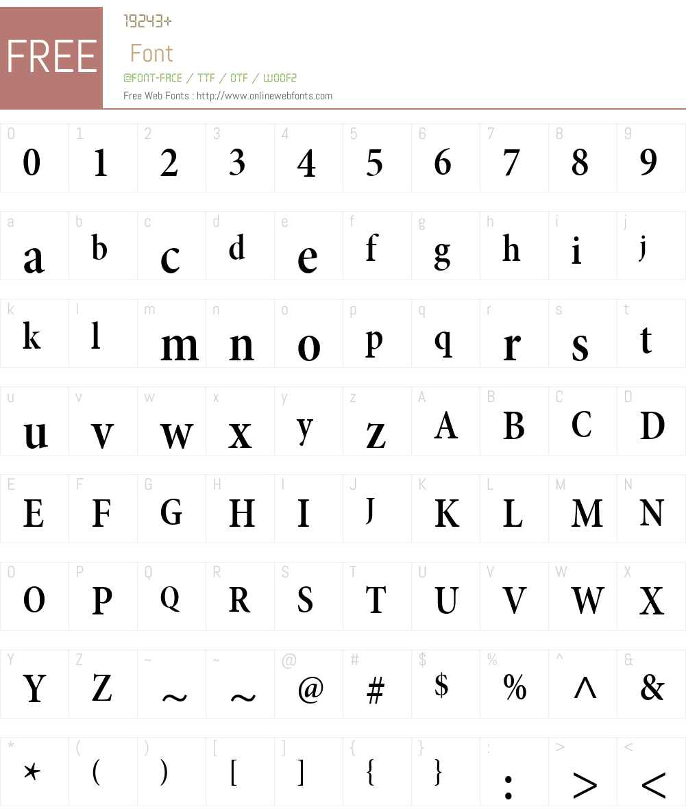 MinionW01-SmBdCndSHd Font Screenshots