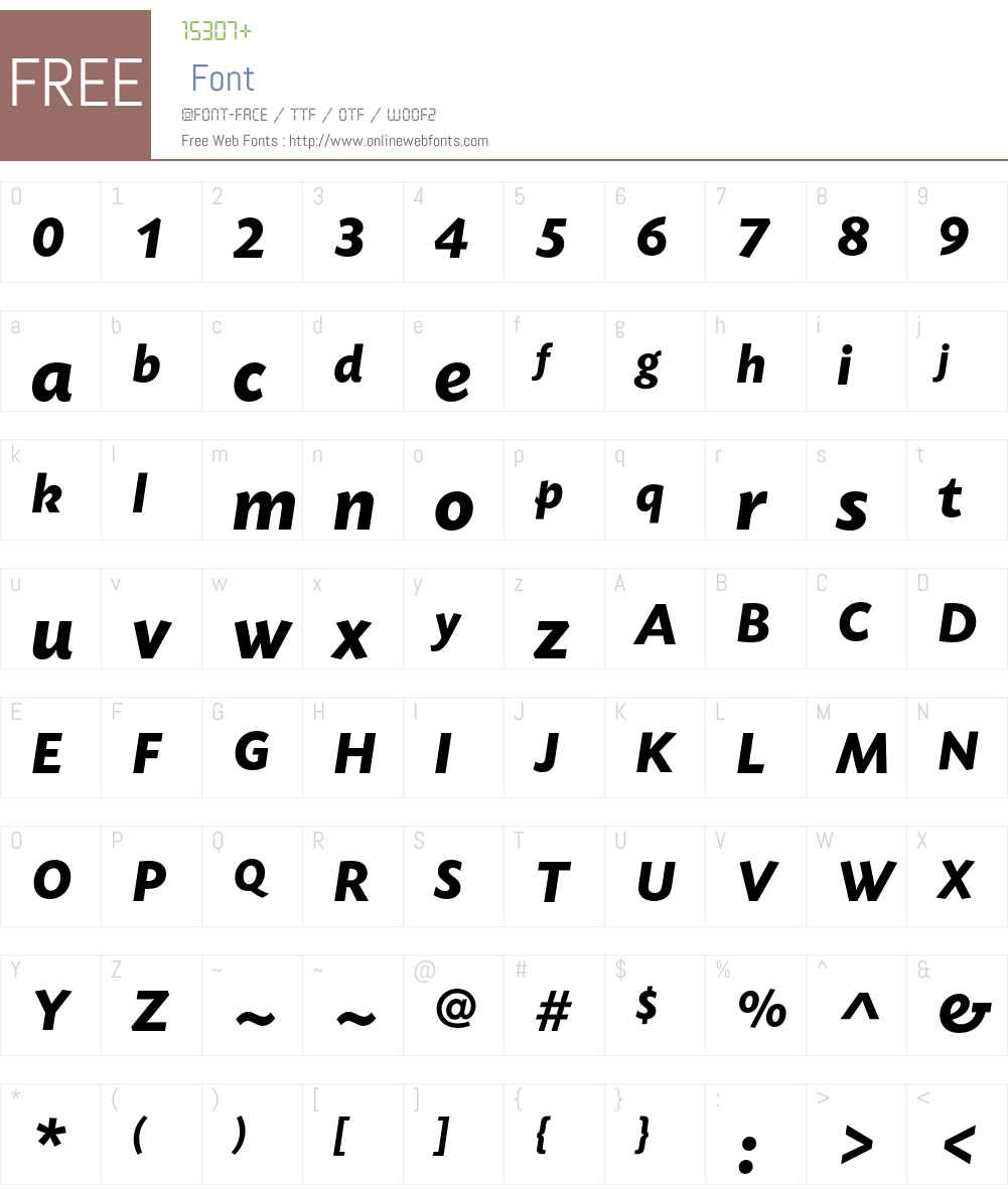 TodaySB-BolIta Font Screenshots