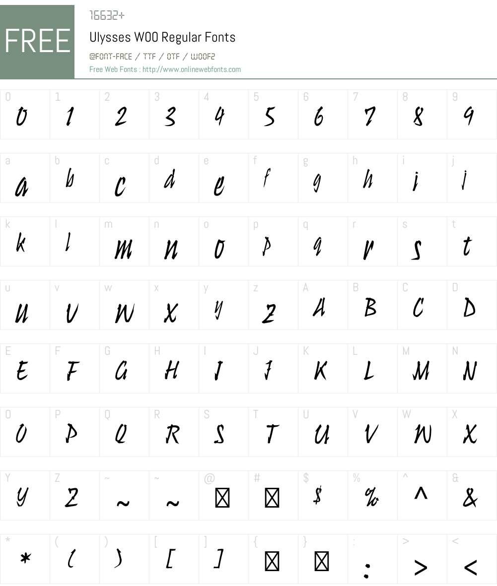 UlyssesW00-Regular Font Screenshots