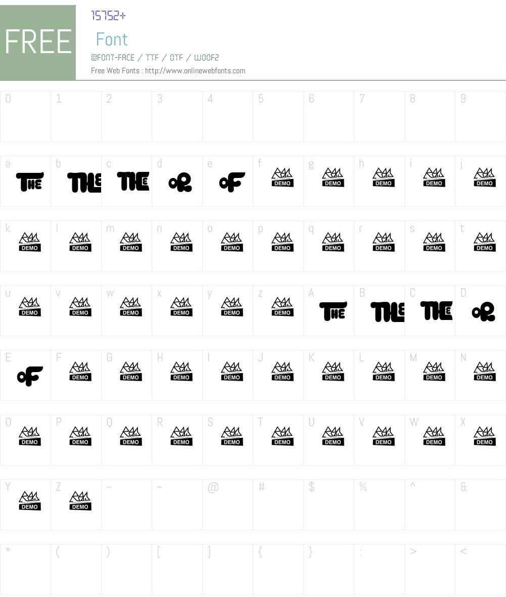 Kingkng Alternative Font Screenshots