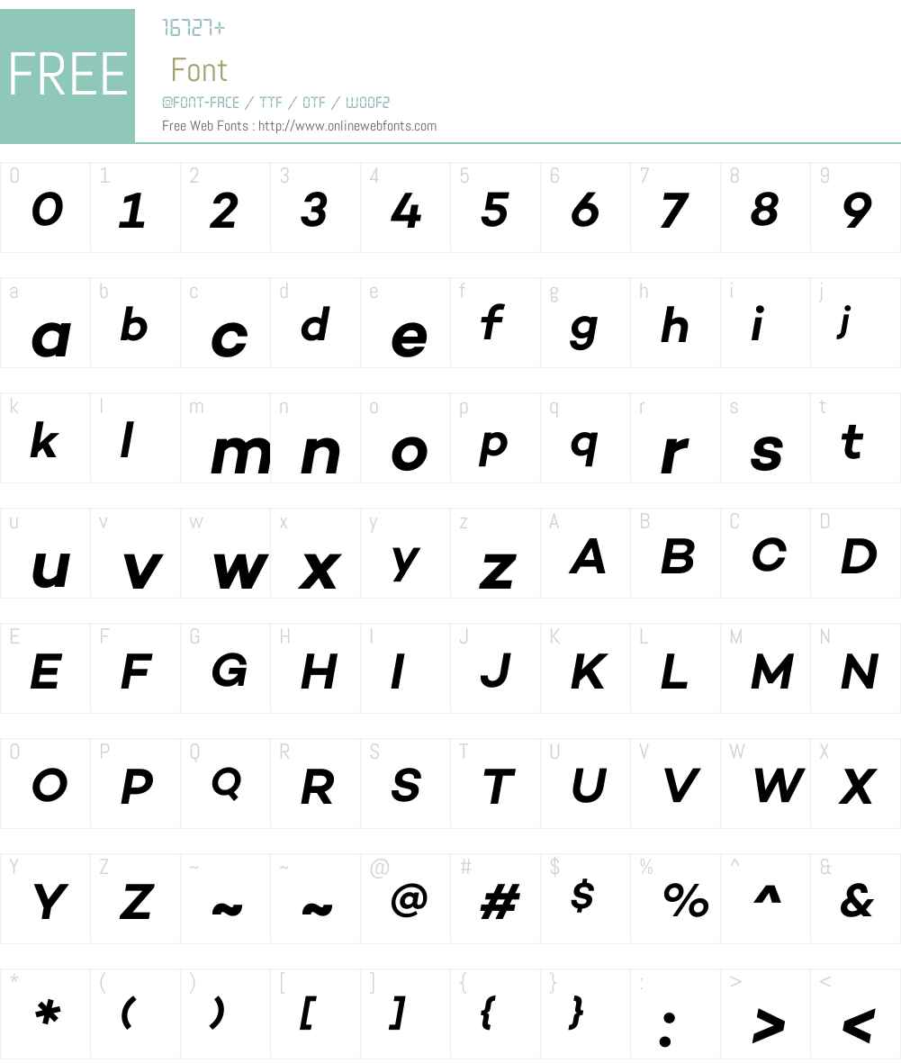 CamptonW00-SemiBoldItalic Font Screenshots