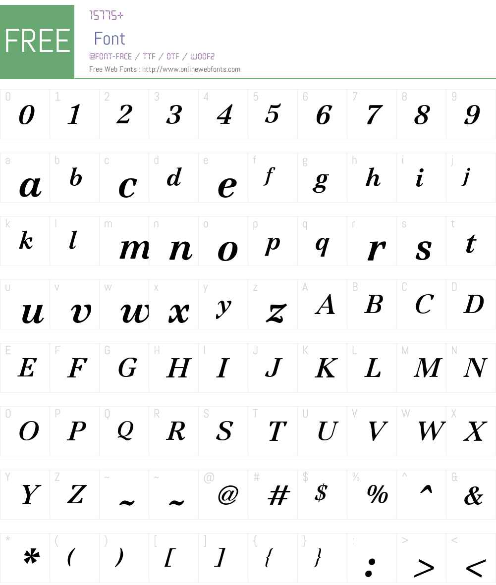 Jamille Font Screenshots