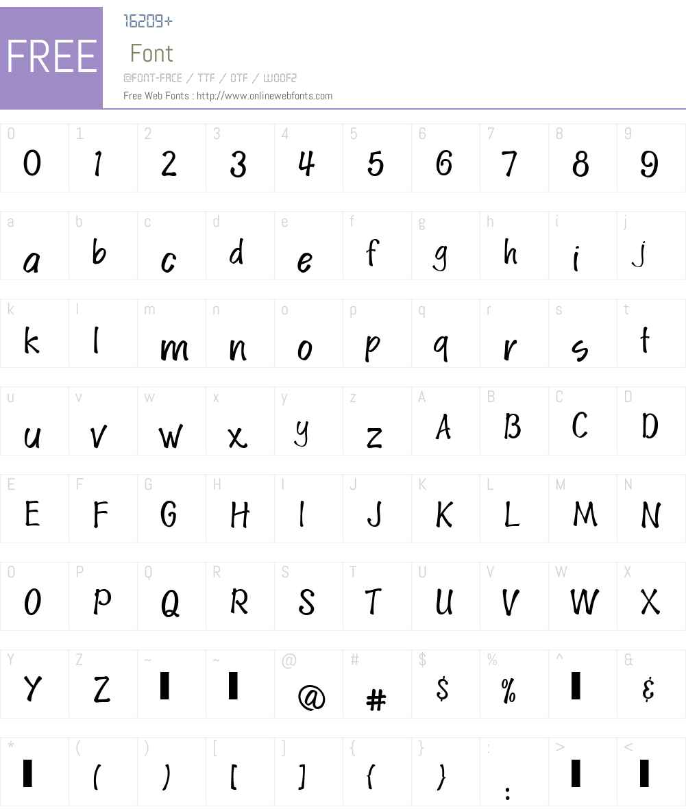 SpudW00-BoldUpright Font Screenshots