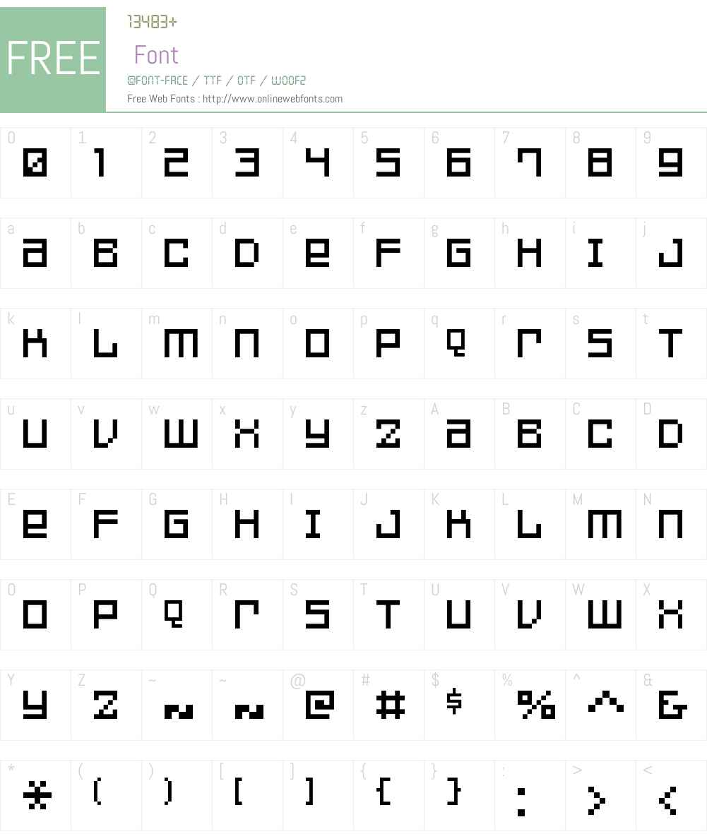 FFF Games Font Screenshots
