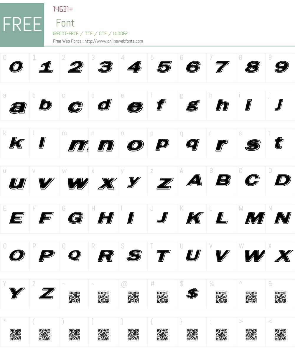 FriedBread Font Screenshots