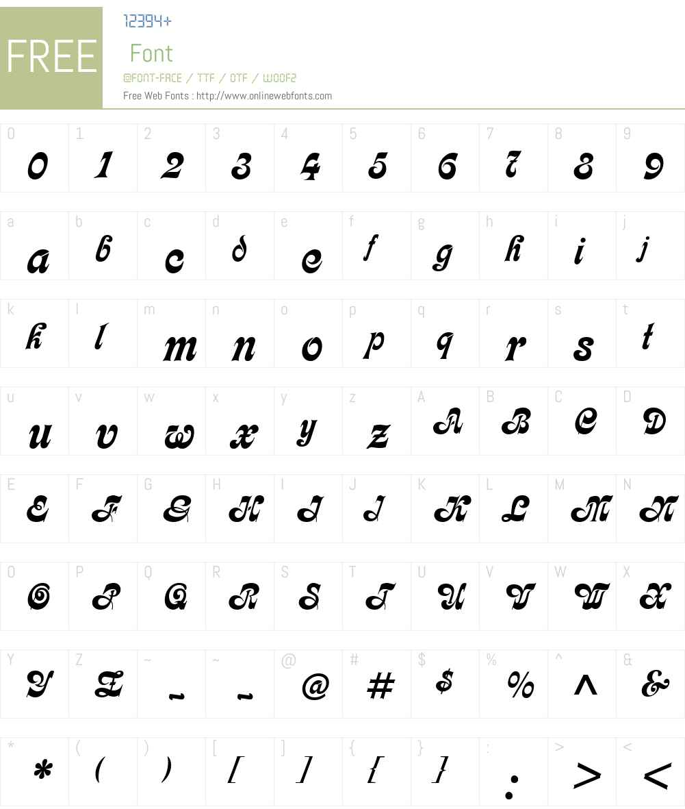 Partridge Font Screenshots