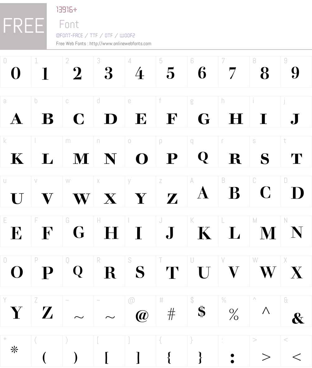 Acanthus Font Screenshots
