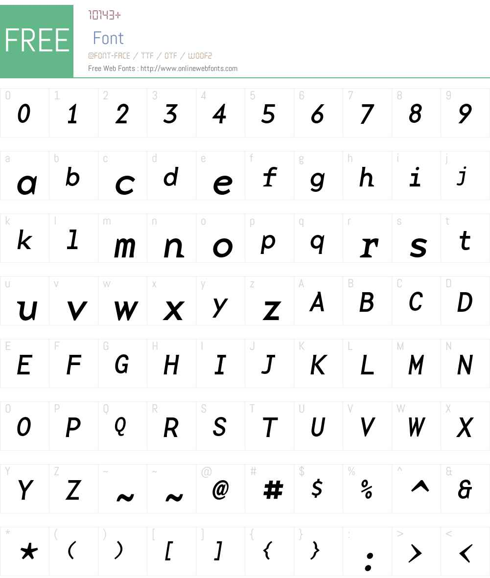 BaseMono Font Screenshots