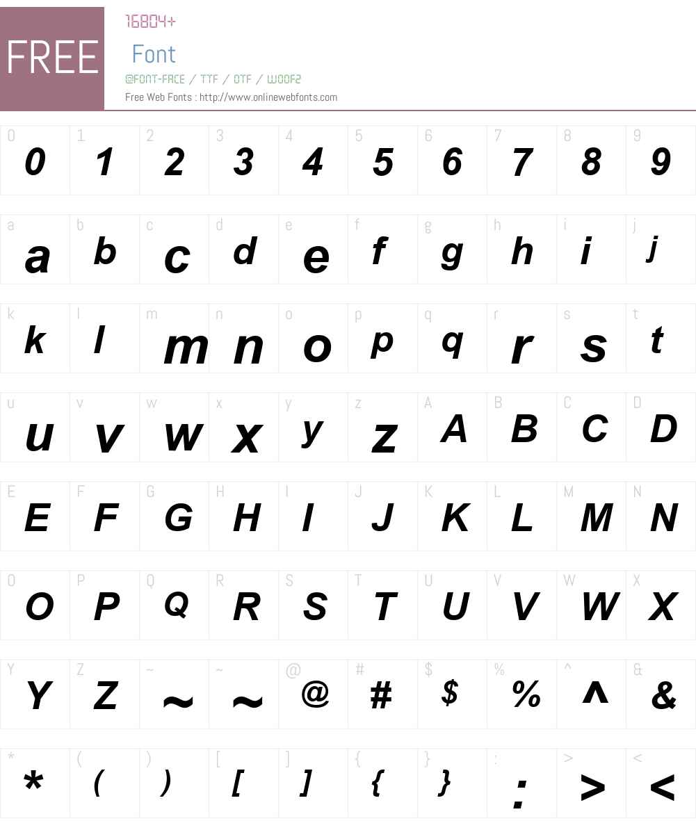 .VnArial Font Screenshots