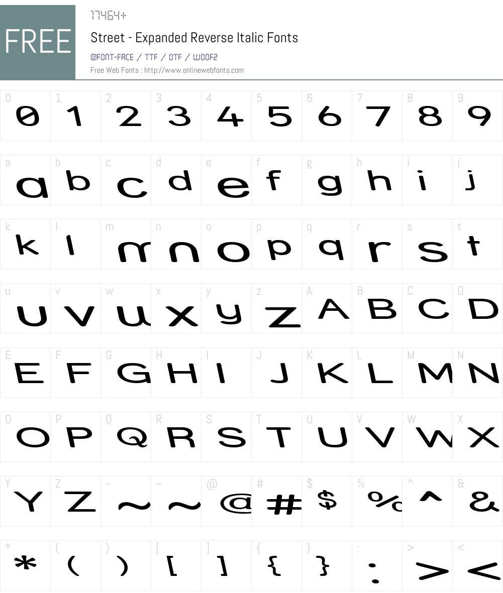 Street - Expanded Reverse Font Screenshots