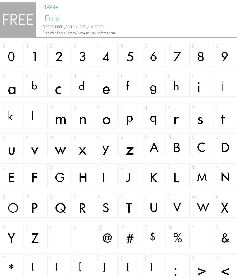 Futura-Thin Font Screenshots