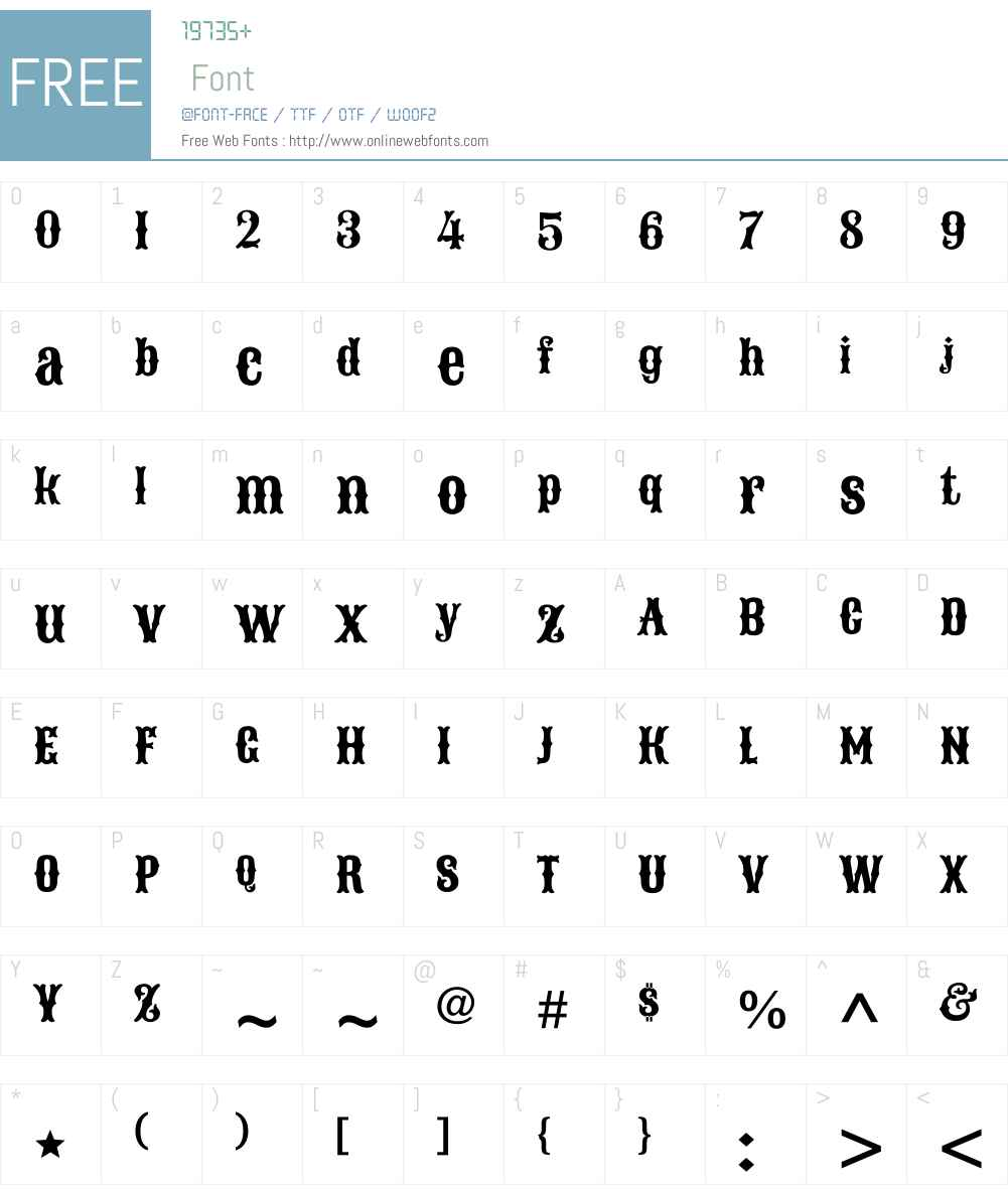Sancreek Font Screenshots