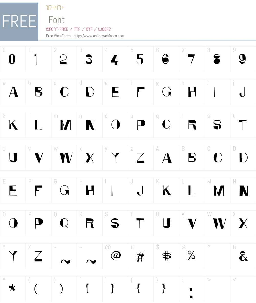 Anarko Font Screenshots
