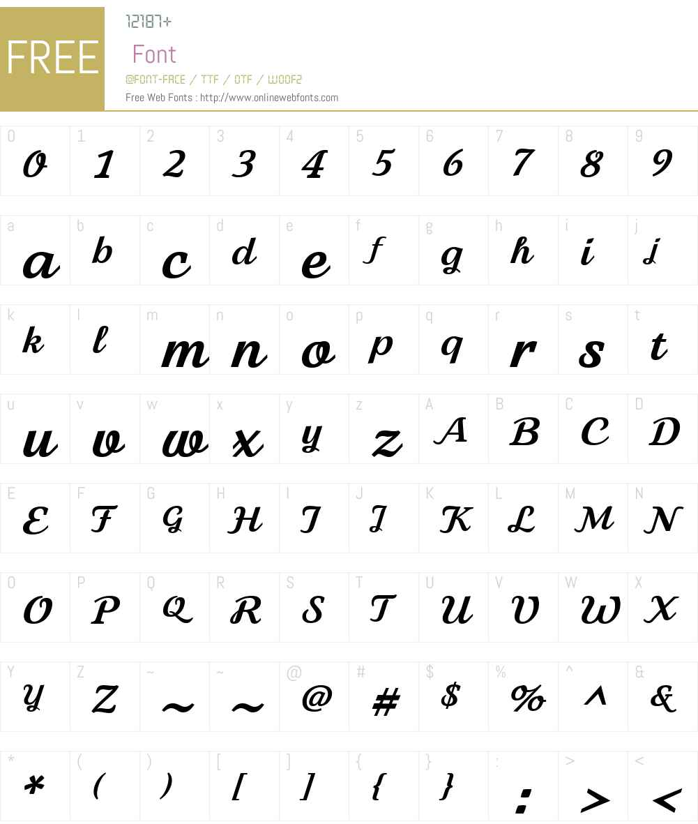BFFionaScriptW01-Bold Font Screenshots