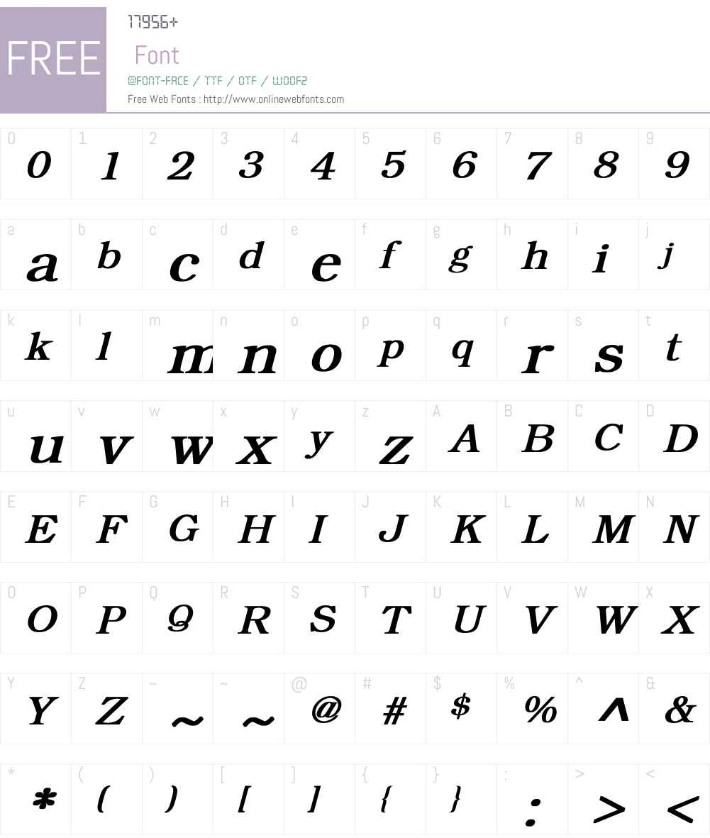 Bookman Font Screenshots