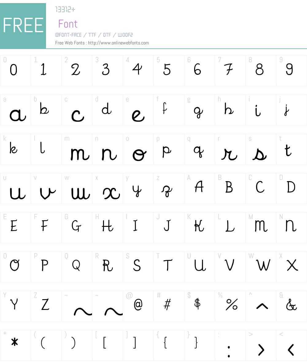 CandyCursiveW00-Regular Font Screenshots
