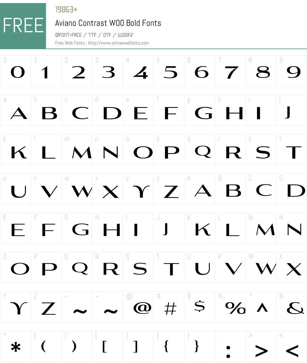 AvianoContrastW00-Bold Font Screenshots