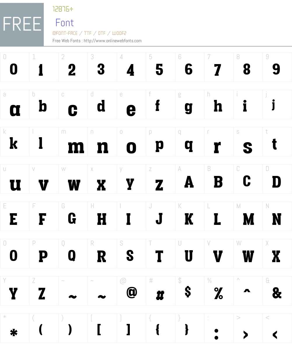 Vacer Serif Font Screenshots