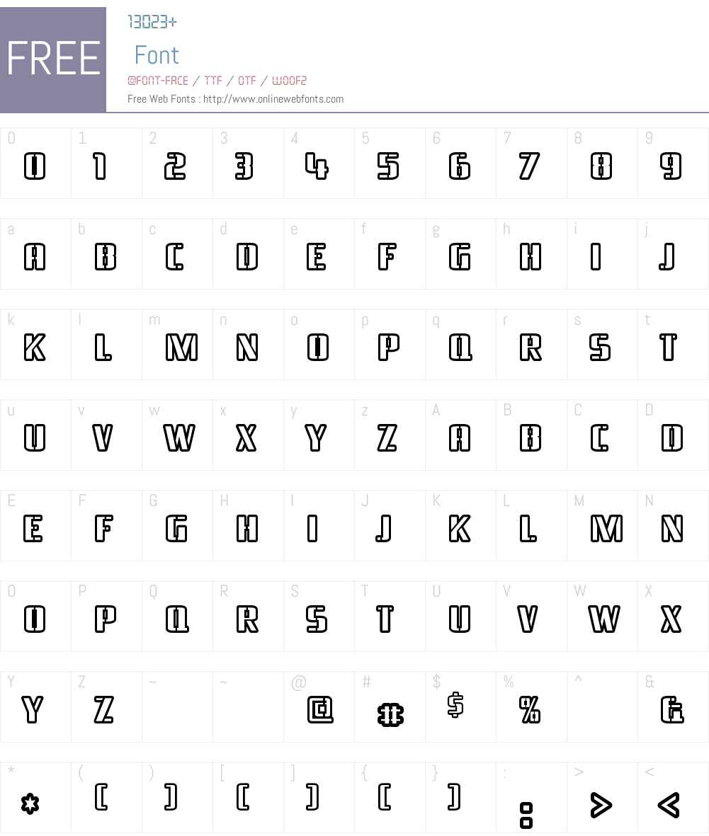 Braeside Outline Font Screenshots