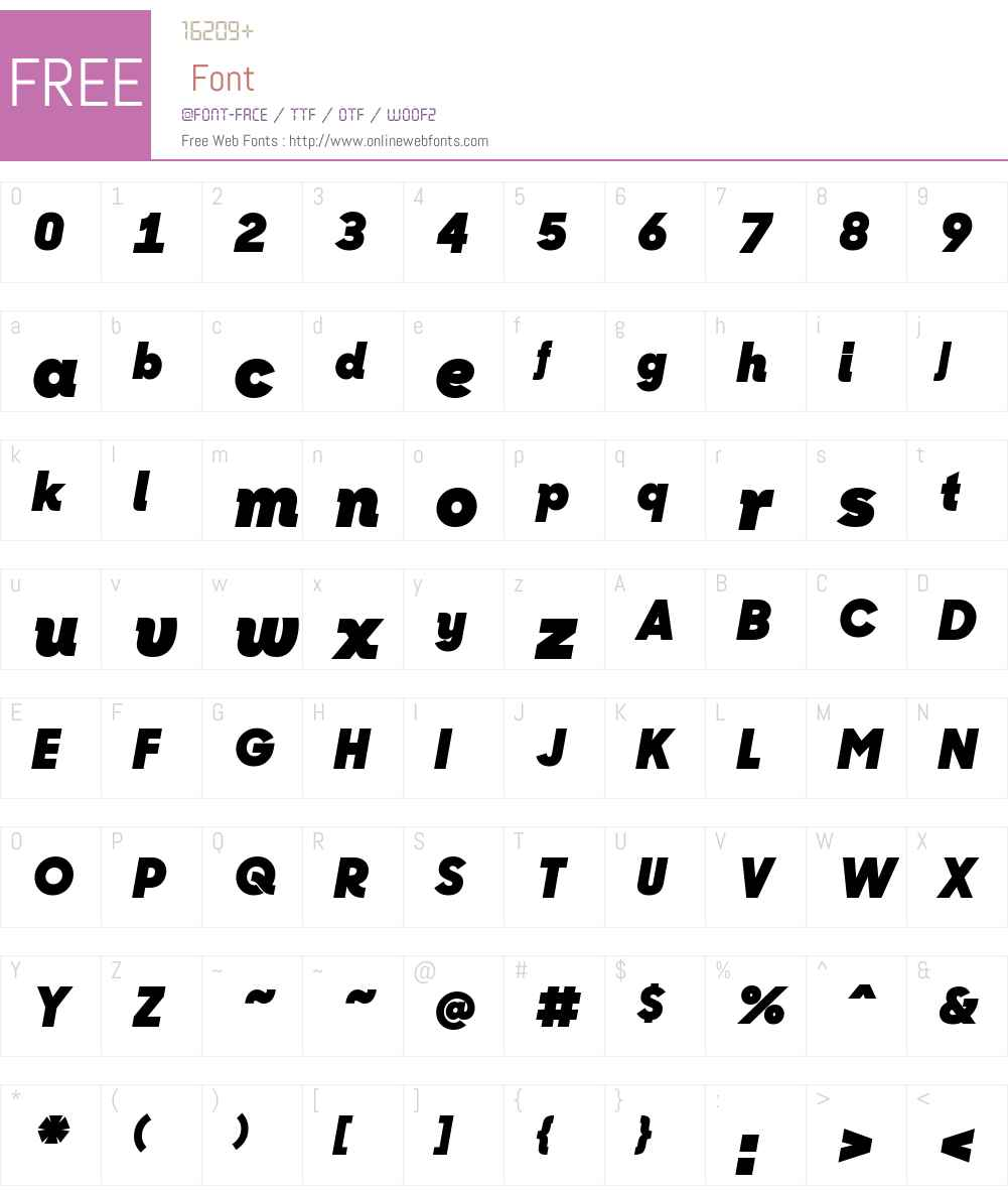 Sharp Sans No1 Black Italic Font Screenshots
