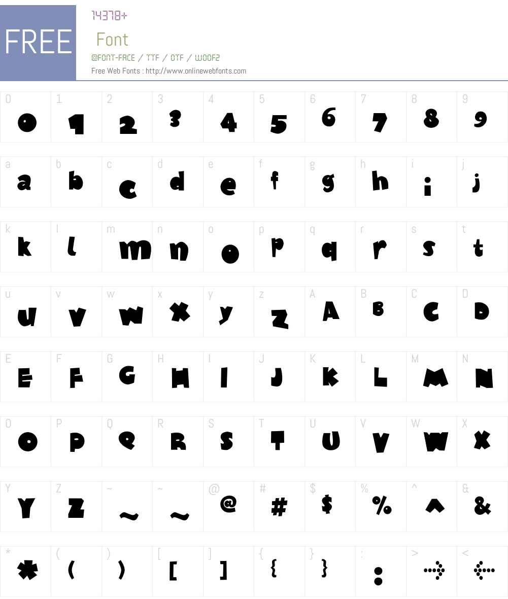 F2FTagliatelleSugo LT Std Font Screenshots