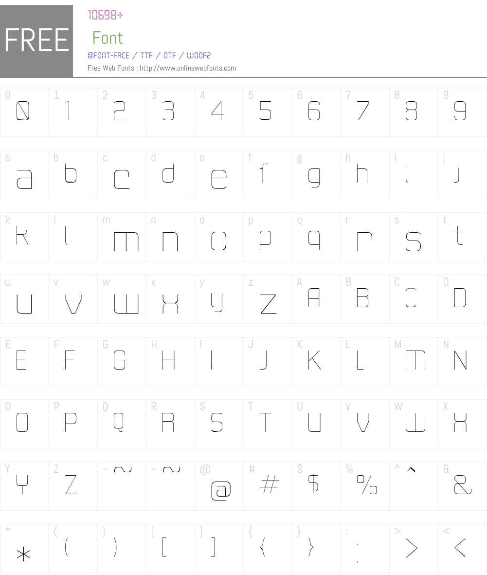 21stSuperFine Font Screenshots