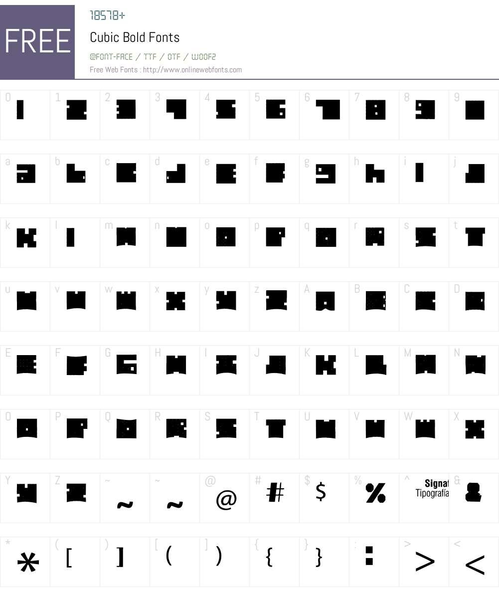 Cubic Bold Font Screenshots