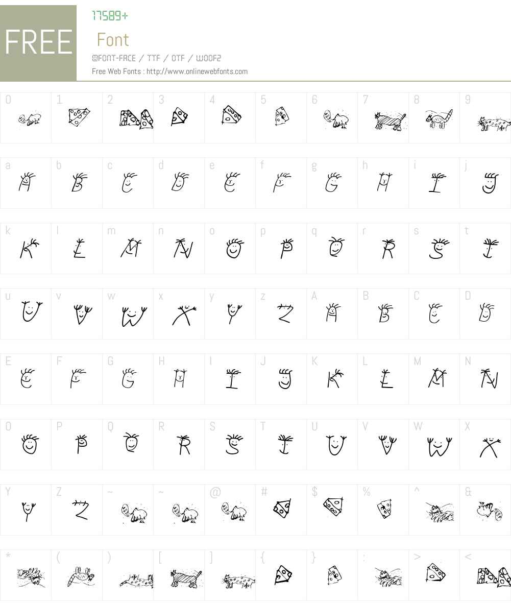 KidsKas Font Screenshots