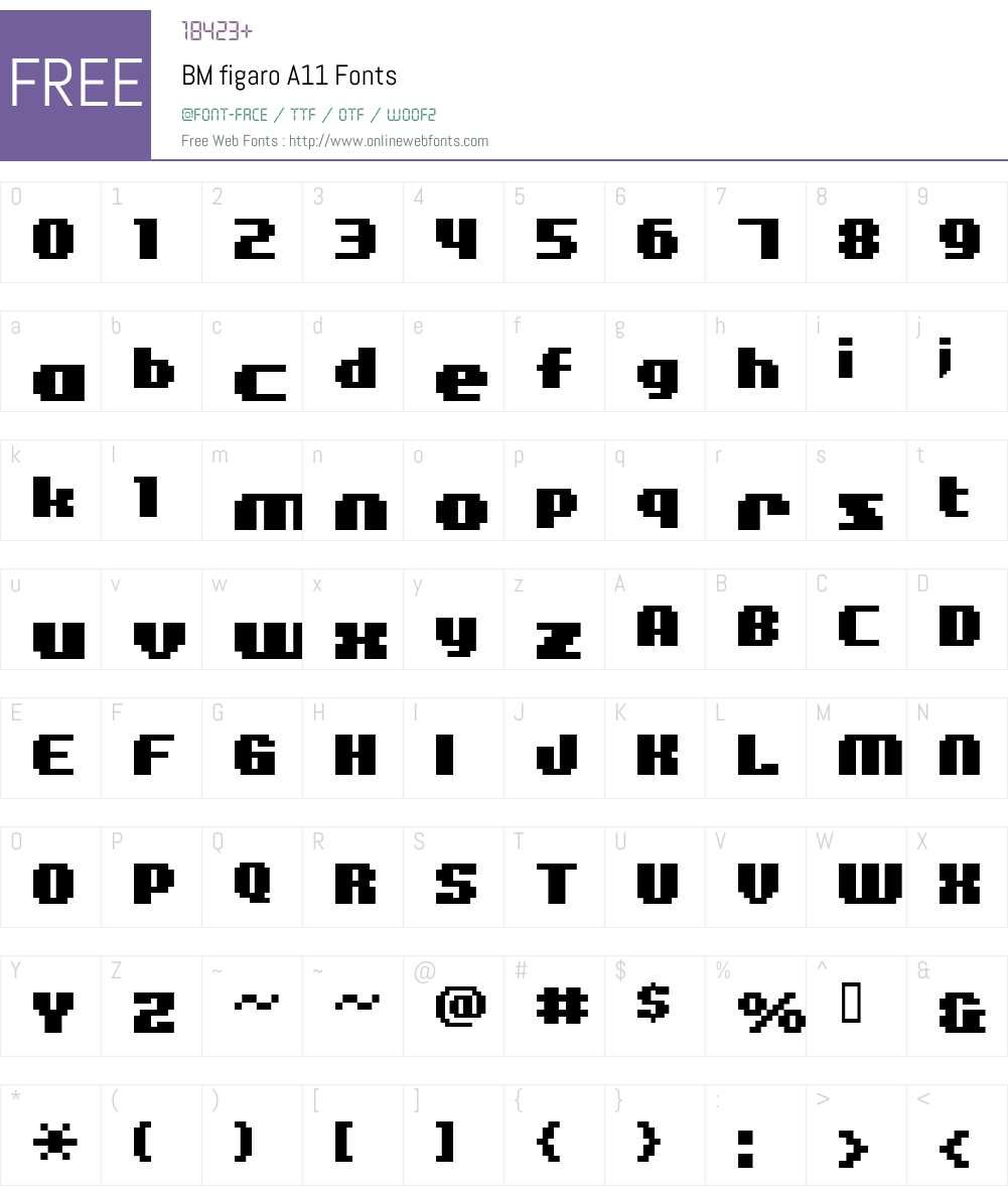 BM figaro Font Screenshots