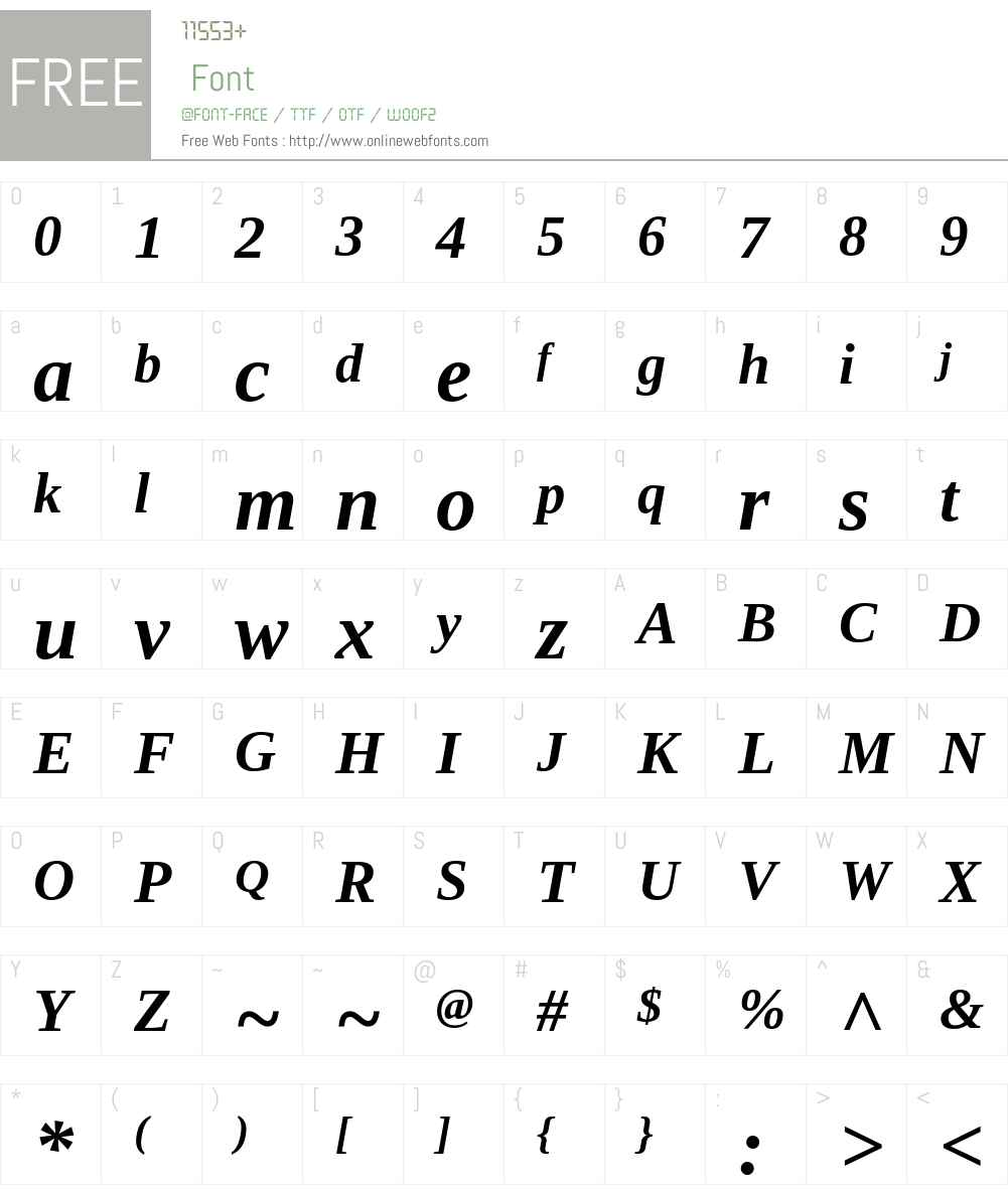 Tinos Font Screenshots