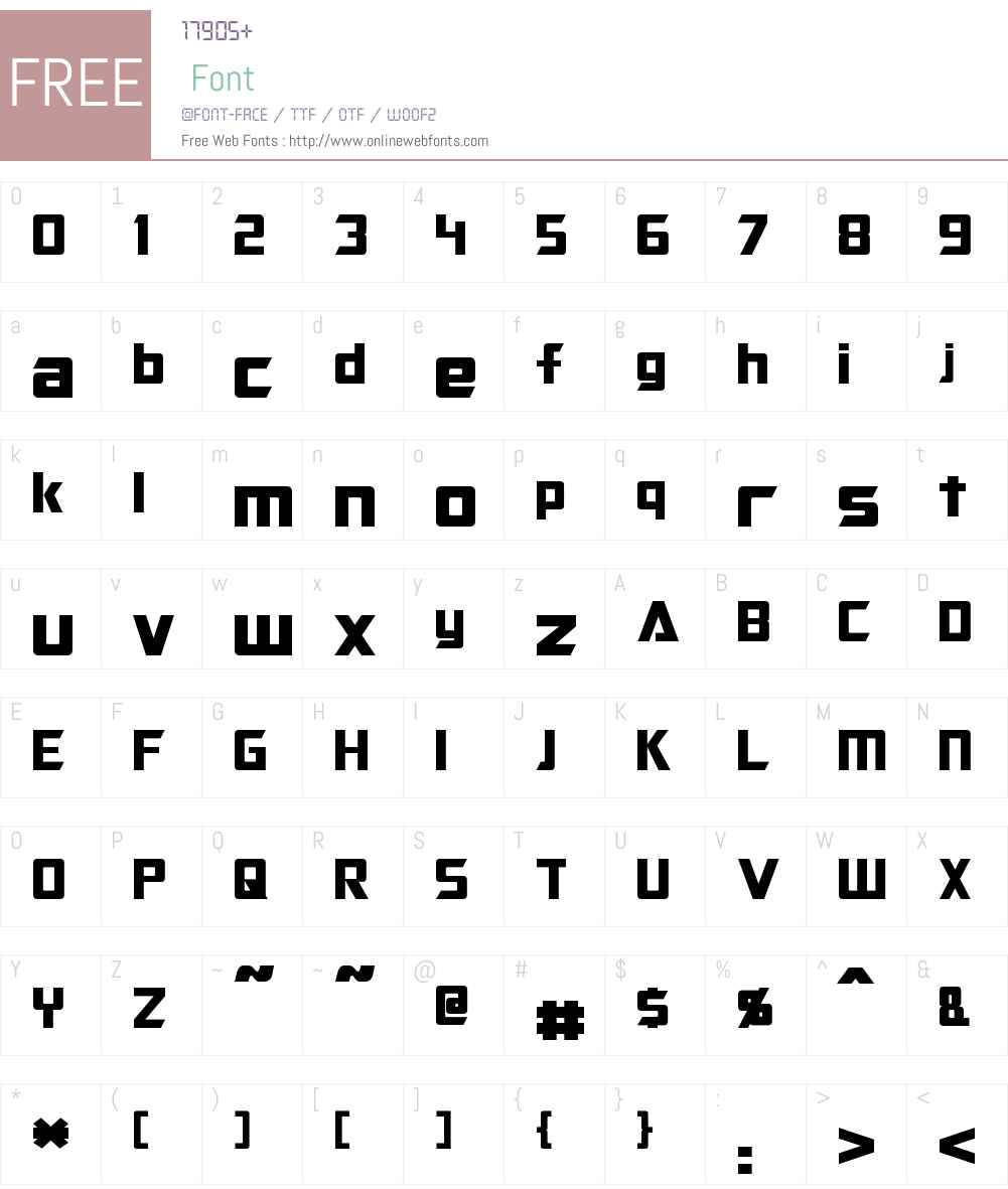 Optimus Font Screenshots