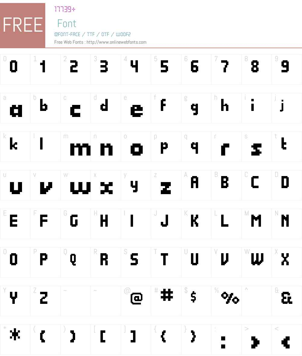 Quadrit Font Screenshots