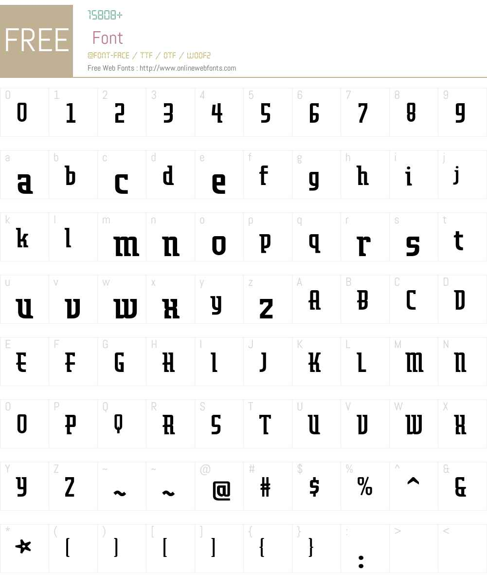 Airedale Font Screenshots