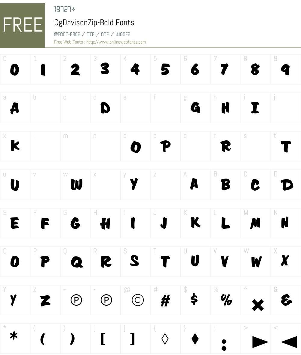 CgDavisonZip Font Screenshots