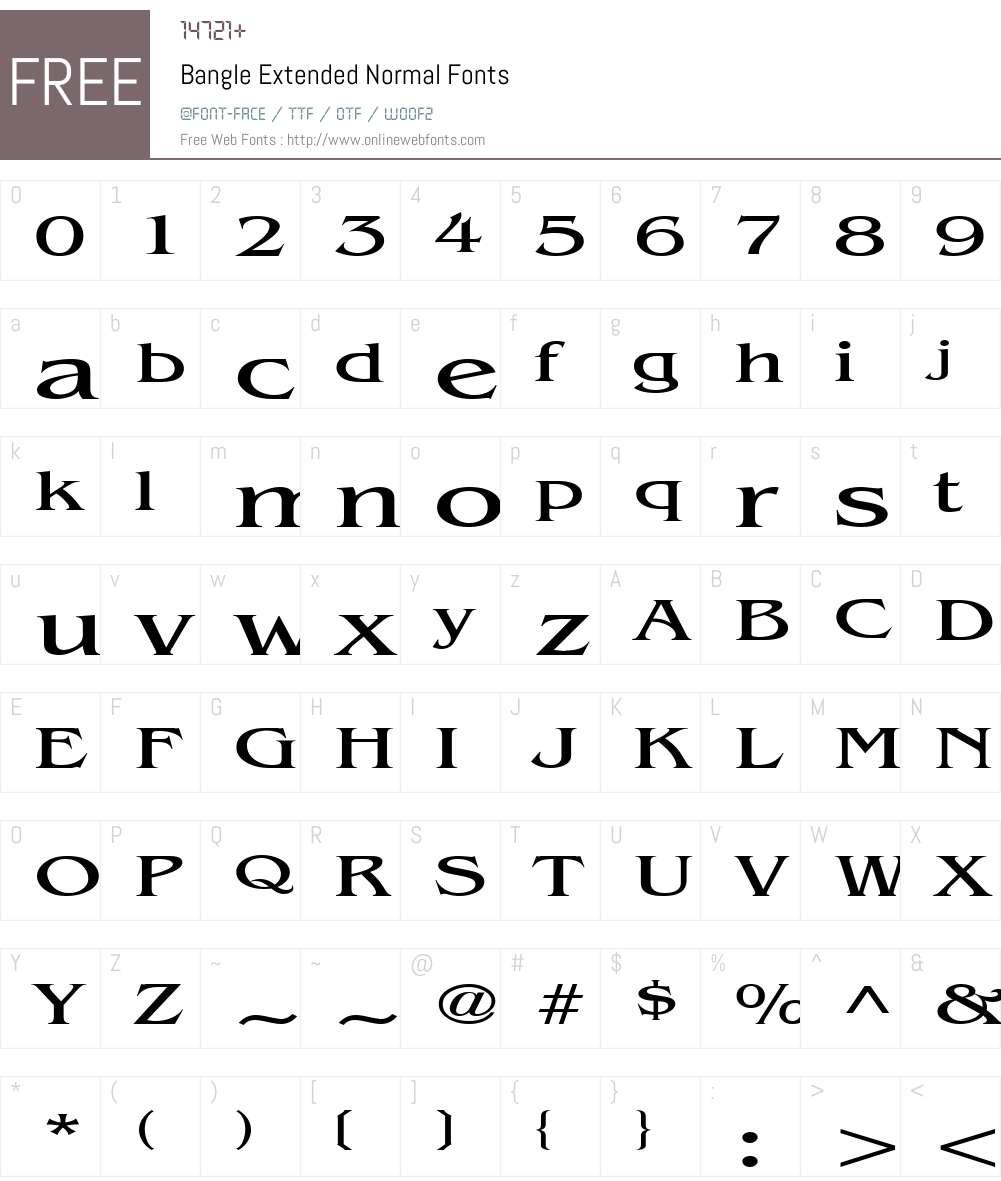 Bangle Extended Font Screenshots
