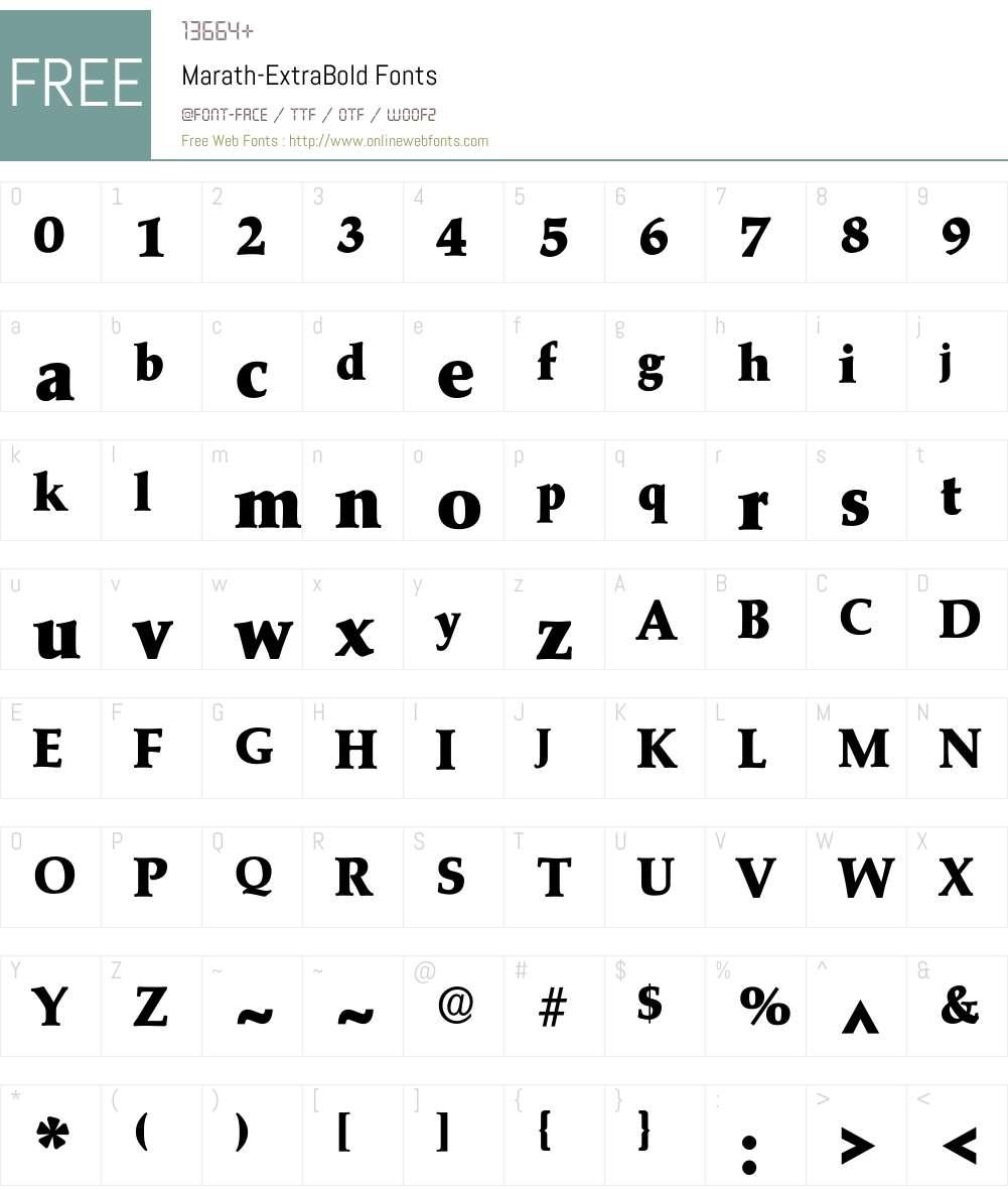 Marath-ExtraBold Font Screenshots