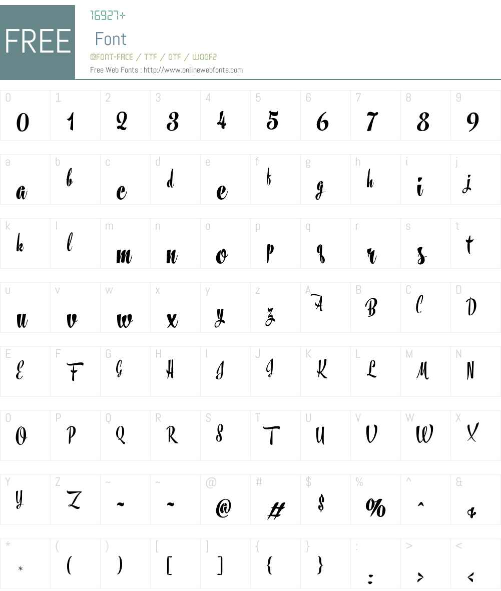 Frost Font Screenshots