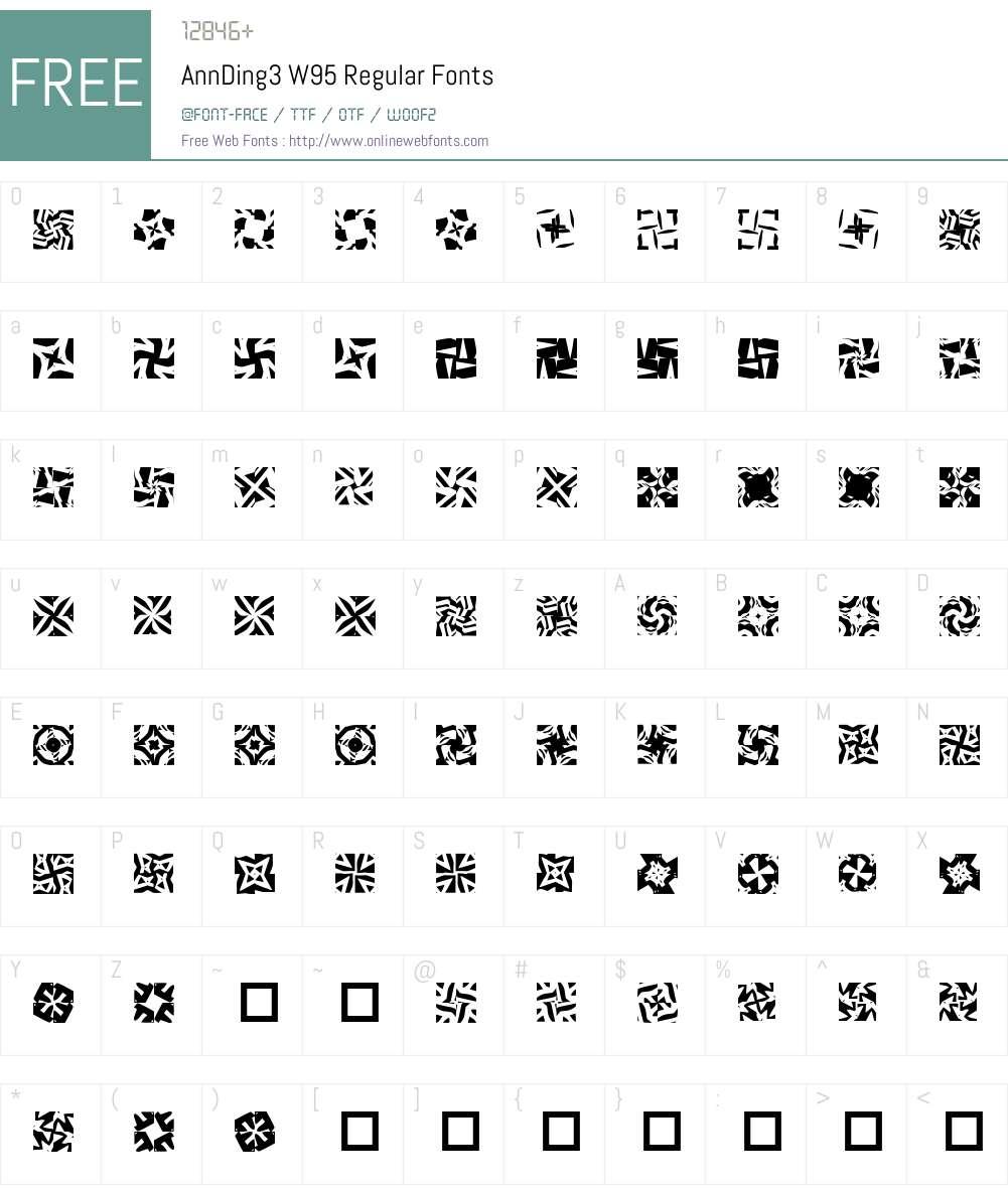 AnnDing3 Font Screenshots