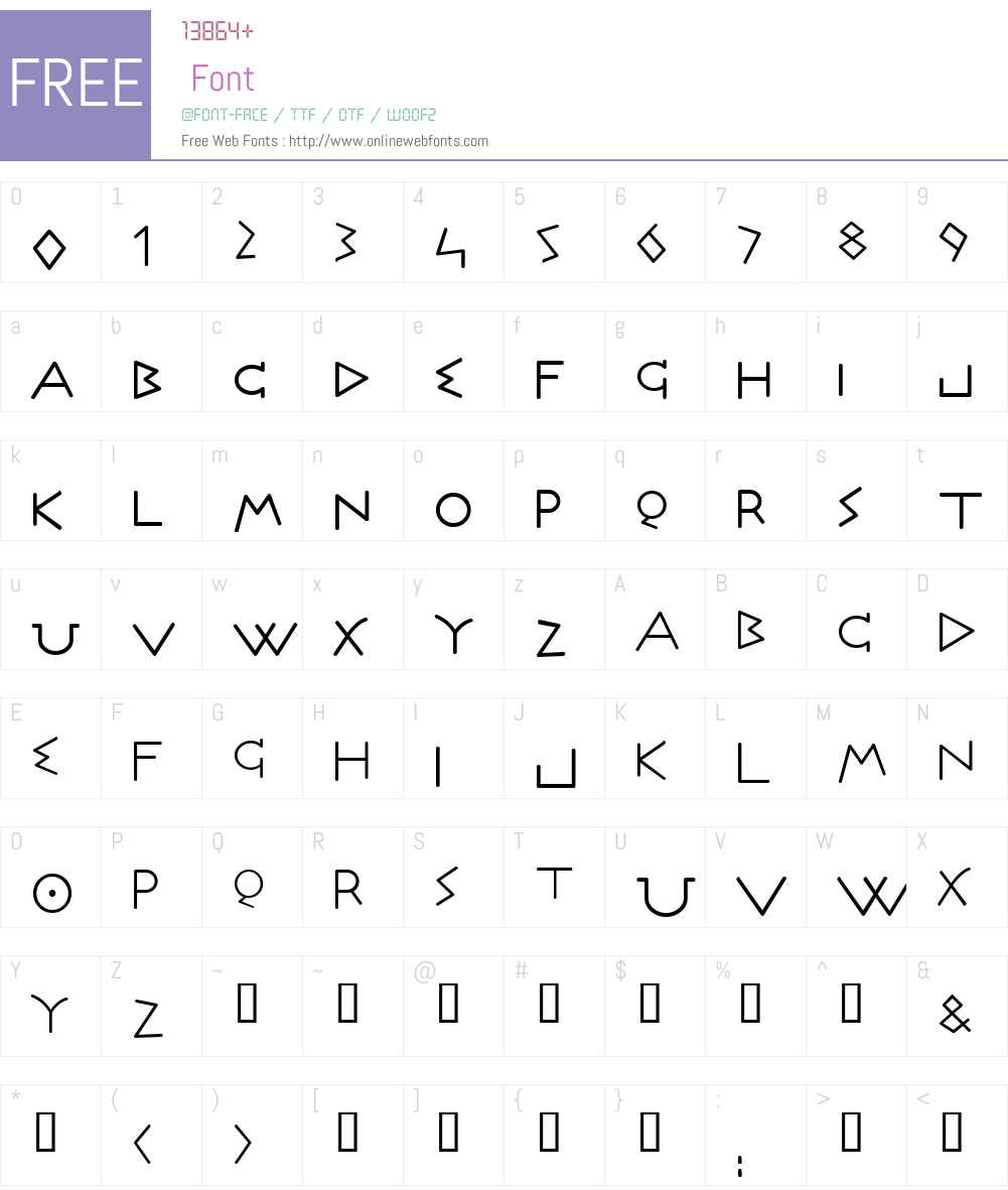 Olympus Font Screenshots
