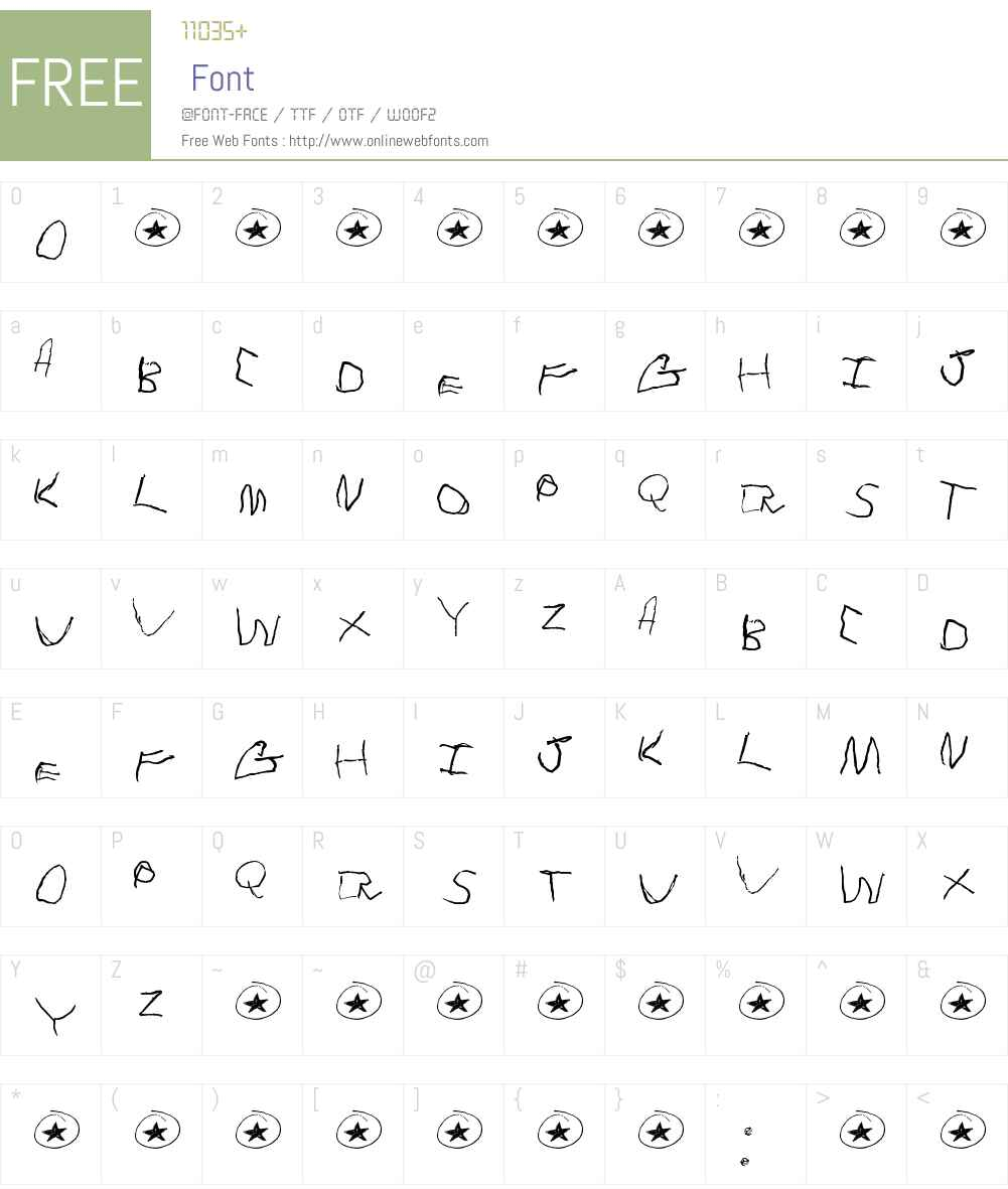Tommy's First Alphabet Font Screenshots