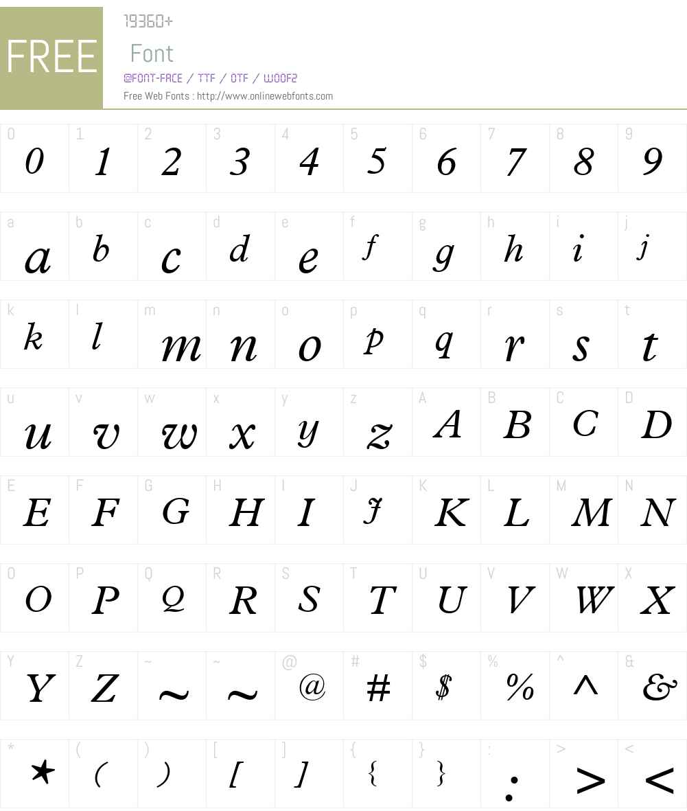 PlantinInfantW01-It Font Screenshots